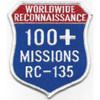 RC-135 100 Missions Real Reconnaissance Patch