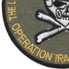 OIF Uncle Sam Skull Patch | Lower Left Quadrant
