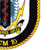 MCM-10 USS Warrior Patch   Lower Right Quadrant