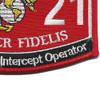 Marine MOS 2621 Manual Morse Intercept Operator Patch | Lower Right Quadrant