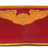 Pilot Wings Air Force Patch Gold And Red | Center Detail