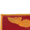 Pilot Wings Air Force Patch Gold And Red | Upper Left Quadrant