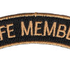 Life Member Tab Top Banner Patch | Center Detail