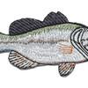 Largemouth Bass Patch | Center Detail