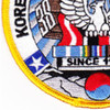 Korea War And Korea DMZ Veterans Association Patch | Lower Left Quadrant