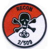 509th Airborne Infantry Regiment 2nd Battalion Patch Recon 2/509