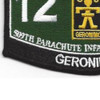 509th Airborne Infantry Regiment 12th Battalion MOS Patch | Lower Left Quadrant