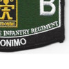 509th Airborne Infantry Regiment 12th Battalion MOS Patch | Lower Right Quadrant