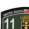 509th Airborne Infantry Regiment 11th Battalion MOS Patch | Upper Left Quadrant