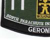 509th Airborne Infantry Regiment 11th Battalion MOS Patch | Lower Left Quadrant