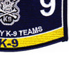 MOS K-9 Team Navy Patch | Lower Right Quadrant