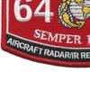 MOS 6475 Aircraft Radar, IR Recon. System Tech. Patch | Lower Left Quadrant