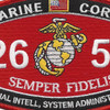 MOS 2651 Special Intelligence System Administrator Patch | Center Detail