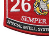 MOS 2651 Special Intelligence System Administrator Patch | Lower Left Quadrant