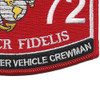 MOS 1372 Assault Breacher Vehicle Crewman Patch | Lower Right Quadrant