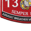 MOS 1372 Assault Breacher Vehicle Crewman Patch | Lower Left Quadrant