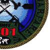 MIUWU-501 Naval Mobile Undersea Warfare Unit Five Zero One Patch   Lower Right Quadrant