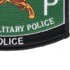 Military Police Military Occupational Specialty MOS Rating Patch Police | Lower Right Quadrant