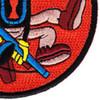 507th Airborne Infantry Regiment Patch - Version B   Lower Right Quadrant