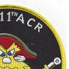 I Troop 3rd Squadron 11Th Armored Cavalry Regiment Patch | Upper Right Quadrant