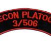 506th Airborne Infantry Regiment Patch Recon Platoon 3/506 - J Version   Center Detail