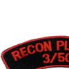 506th Airborne Infantry Regiment Patch Recon Platoon 3/506 - J Version   Upper Left Quadrant