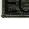 Explosive Ordnance Disposal Tab EOD OD Patch Hook And Loop | Lower Left Quadrant