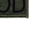 Explosive Ordnance Disposal Tab EOD OD Patch Hook And Loop | Lower Right Quadrant