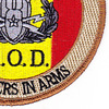 EOD Explosives Ordinance Disposal American Romanian Patch   Lower Right Quadrant