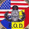 EOD Explosives Ordinance Disposal American Romanian Patch   Center Detail
