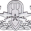 EOD Explosive Ordnance Disposal Senior Badge Silver Patch | Center Detail