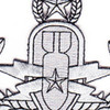 Eod Explosive Ordnance Disposal Master Badge Silver Patch | Center Detail