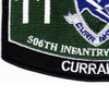 506th Airborne Infantry Regiment Military Occupational Specialty MOS Rating Patch 11 B Currahee   Lower Left Quadrant