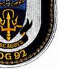 DDG-92 USS Momsen Patch   Lower Right Quadrant