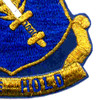 504th Airborne Infantry Regiment Patch Strike Hold Gold Metalic Thread   Lower Right Quadrant
