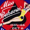 HSL-46 Det 6 Patch Miss Behavin Wildcards | Center Detail