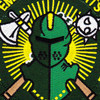 HS-75 Patch Emerald Knights | Center Detail