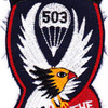503rd Airborne Infantry Regiment Patch - D Version   Center Detail