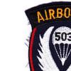 503rd Airborne Infantry Regiment Patch - D Version   Upper Left Quadrant