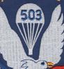 503rd Airborne Infantry Regiment Patch   Center Detail