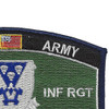 503rd Airborne Infantry Regiment Military Occupational Specialty MOS Rating Patch | Upper Right Quadrant