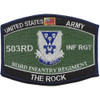 503rd Airborne Infantry Regiment Military Occupational Specialty MOS Rating Patch