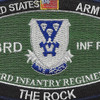 503rd Airborne Infantry Regiment Military Occupational Specialty MOS Rating Patch | Center Detail