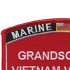 Grandson Of A Vietnam Veteran Patch USMC | Upper Left Quadrant