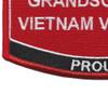 Grandson Of A Vietnam Veteran Patch USMC | Lower Left Quadrant