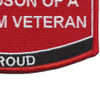 Grandson Of A Vietnam Veteran Patch USMC | Lower Right Quadrant
