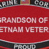 Grandson Of A Vietnam Veteran Patch USMC | Center Detail