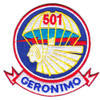 501st Airborne Infantry Regiment Patch Geronimo - Version E