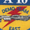 Fairchild Republic A-10 Demo Team East Patch | Center Detail