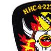 4th Squadron 227th Aviation Regiment Attack Recon Battalion HQ Patch   Upper Left Quadrant